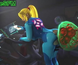 Samus and her metroid pet 56..