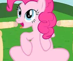 Pinkie Pie bare-breasted..