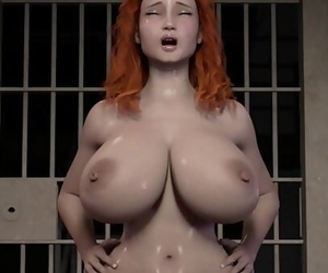 Crimson Haired wifey rails a..